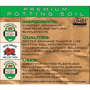 Organic Gardening McEnroe Premium Potting Soil - 1/20 cy