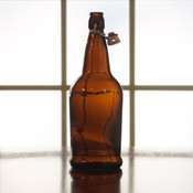Beer and Wine Amber EZ Cap 1 L Bottles - 12/case