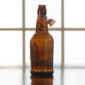 Beer and Wine Amber EZ Cap 16 oz Bottle - Single