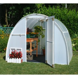 Outdoor Gardening Solexx 8ft x 8ft Early Bloomer Greenhouse - 3.5mm (G-108)