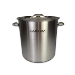Beer and Wine Coldbreak Brewing 10 Gallon Kettle w/Ball Valve