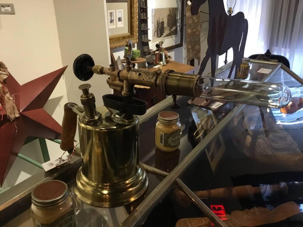 Handmade Polished Blowtorch Lamp