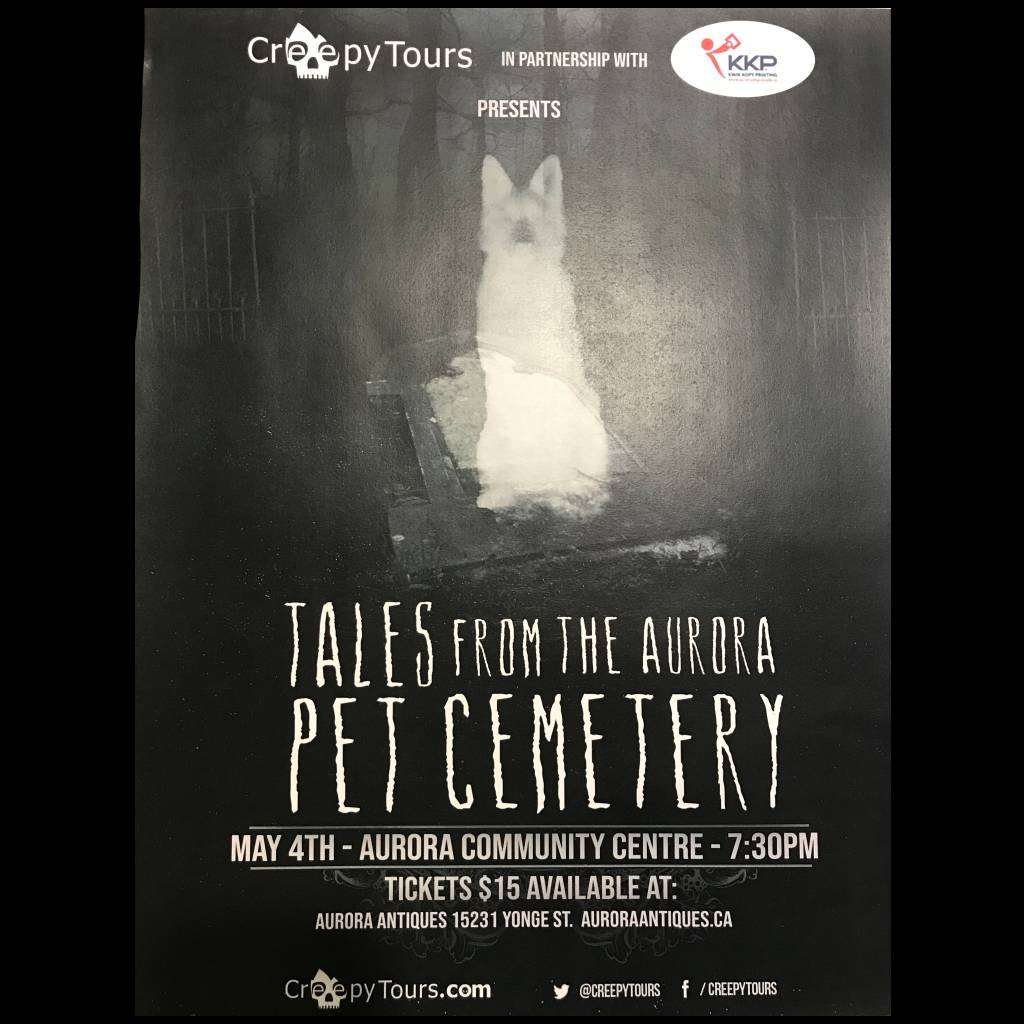 Tales from the Aurora Pet Cemetery - May 4th at 7:30pm