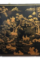 Antique Chinese Four-Part Print - Real Gold Paint