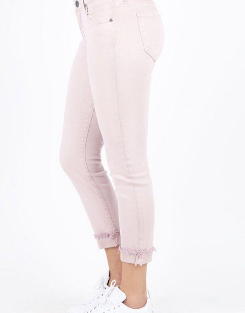 Amy Crop Straight Leg- Roll Up Frey