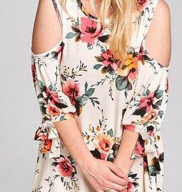 Floral Cold Shoulder