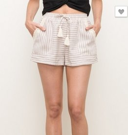 Stripe Lace Inset Shorts