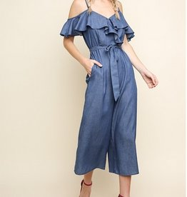 Denim Wide Leg Jumper