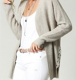 Side Laced Up Cardi