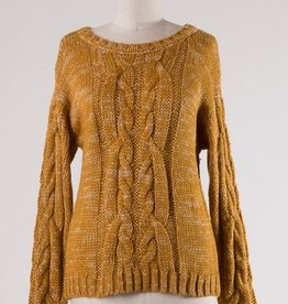 Heavy Cable Knit Sweater