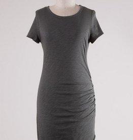 Side Pleaded Tee Dress
