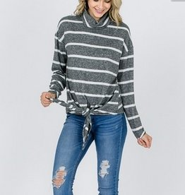 Cowl Neck Tied Up Sweater
