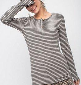 Long Sleeve Pin Stripe Top