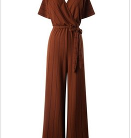 Short Sleeve Crossover Jumpsuit