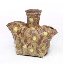 Liz Quackenbush Double Spouted Vase, form by Liz Quakenbush, glaze by Marc Digeros