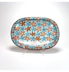 Joe Pintz Oblong Dish, form by Joe Pintz, glaze by Jason Bige-Burnett