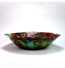 Huge Round Bowl, form by Lisa Orr, glaze by Lisa Orr.