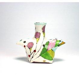 Liz Quackenbush Double Spouted Vase, form by Liz Quackenbush, glaze by Ursula Hargens