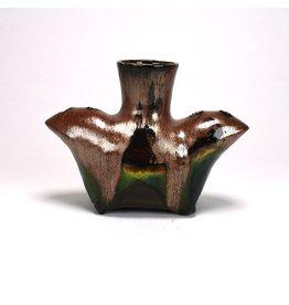 Liz Quackenbush Double Spouted Vase, form by Liz Quackenbush, glaze by Lisa Orr
