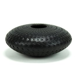 Michael Wisner Black Waves Vase