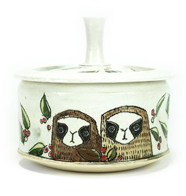 Tricia Schmidt Sloth Couple Lidded Jar
