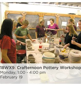NCC Crafternoon Pottery Workshop: President's Day Special