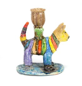 Mike Norman Cat Candleholder