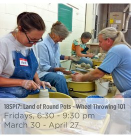 NCC CANCELLED: Land of Round Pots – Wheel Throwing 101