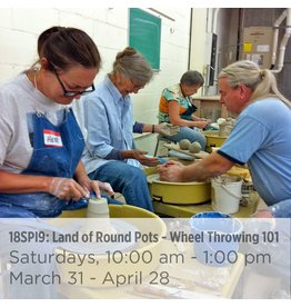 NCC SOLD OUT: Land of Round Pots – Wheel Throwing 101