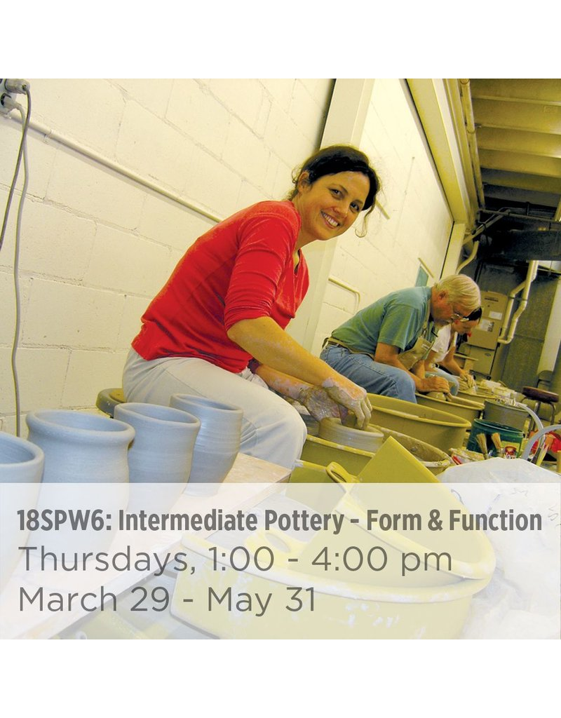NCC Intermediate Pottery – Focus on Form and Function