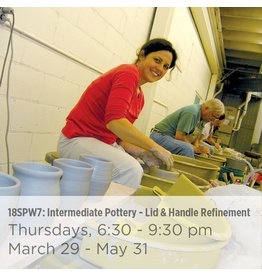 NCC WAITLIST: Intermediate Pottery – Focus on Lid and Handle Refinement