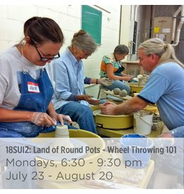 NCC WAITLIST Land of Round Pots – Wheel Throwing 101