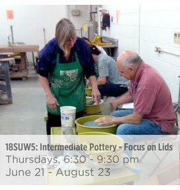NCC WAITLIST: Intermediate Pottery – Focus on Lids