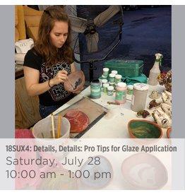 NCC Details, Details: Pro Tips for Glaze Application