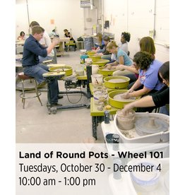 NCC WAITLIST: Land of Round Pots - Wheel Throwing 101