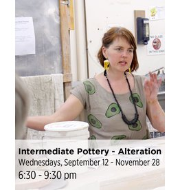 NCC WAITLIST: Intermediate Pottery - Focus on Off-Wheel Alteration