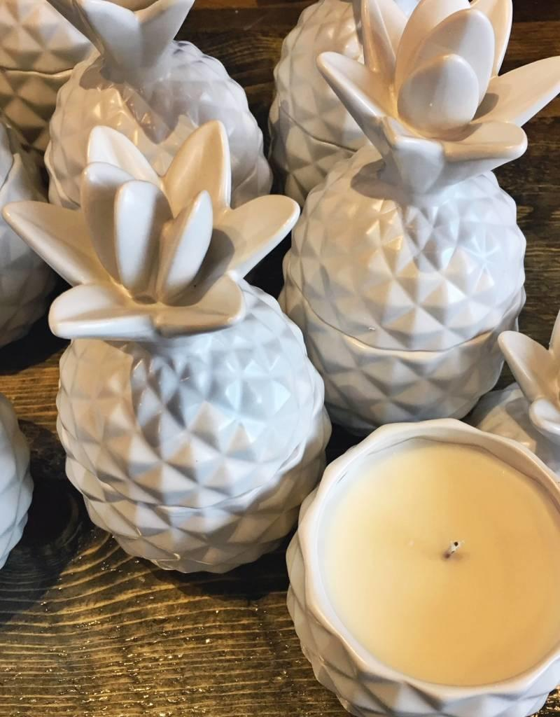 Ceramic Pineapple Candle