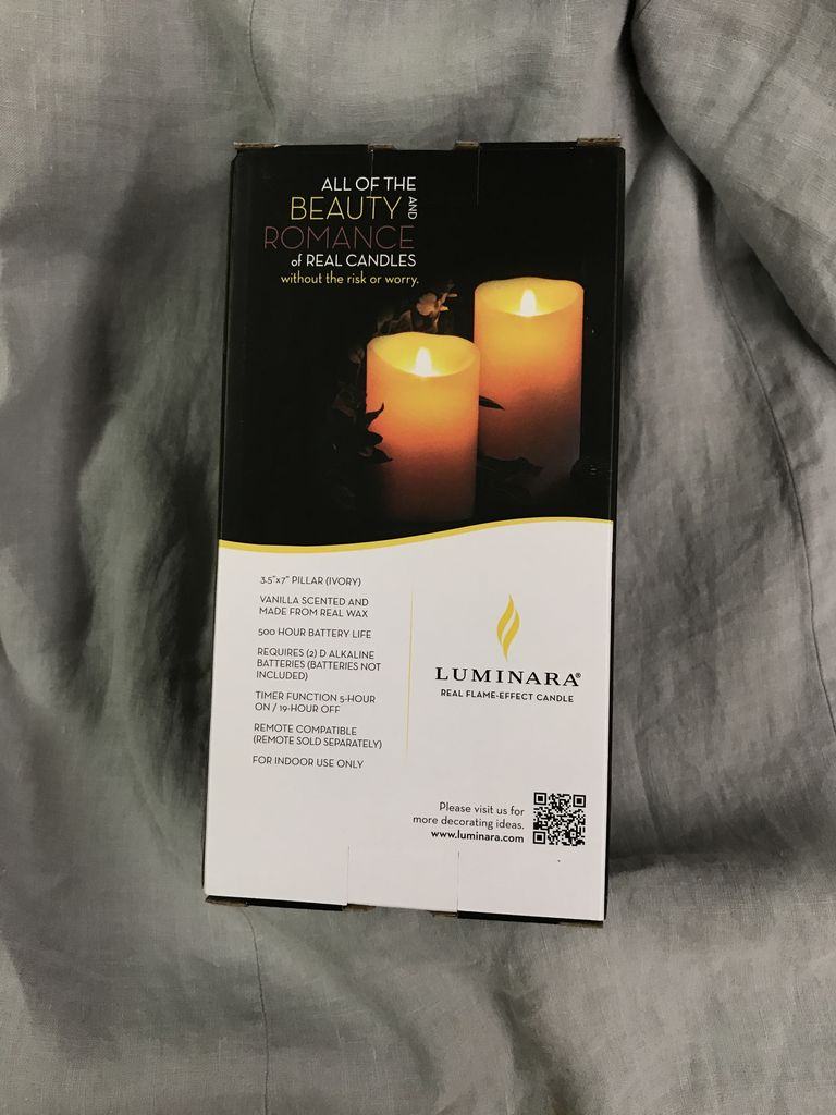 "HOME FRAGRANCE 3.5X7"" BATTERY CANDLE"