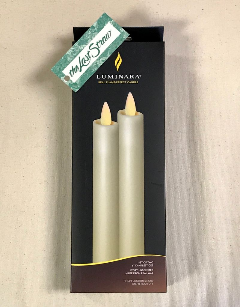 """HOME FRAGRANCE 8"""" TAPER BATTERY CANDLE X2"""