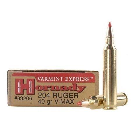 Hornady Varmint 204 Ruger 40 gr V-Max 20 ct