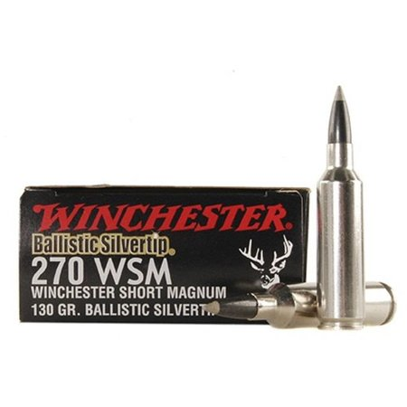 Ballistic Silvertip 270 WSM, 130 gr,  20 ct