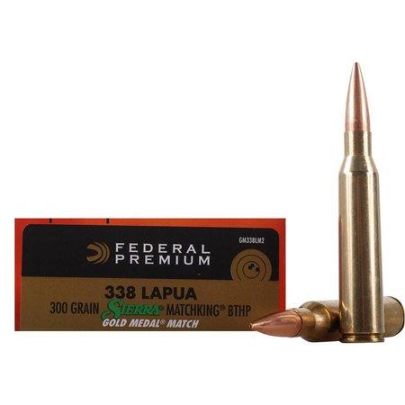 Federal 338 Lapua 300 gr Sierra Matchking 20 ct
