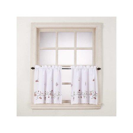 Charlene Rod-Pocket Window Tiers - 56x24