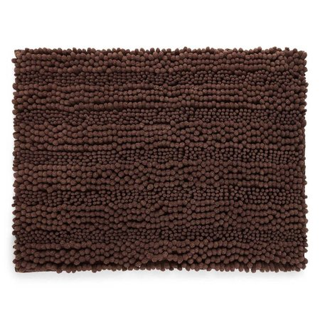 Chenille Lines Bath Rug Chocolate - 21x34