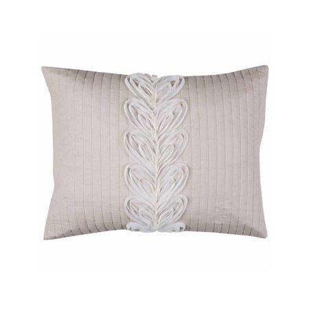 Rizzy Home Adela Blush Bedding Sham 20 inch x 26 inch, Pink