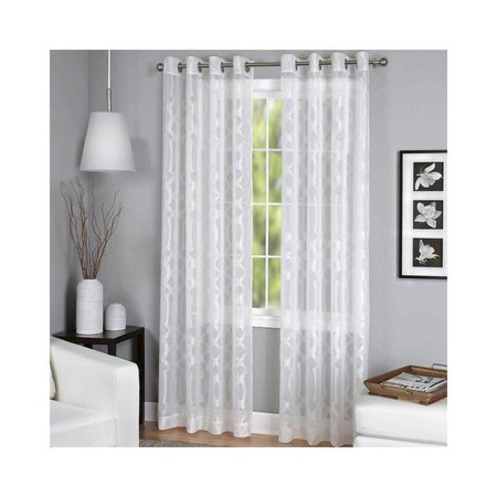 Elrene Latique Sheer Grommet‑top Single Curtain Panel 52x84 White