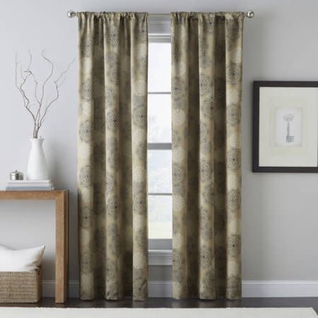 Powersave Primavera Curtain Panel Taupe 40x84