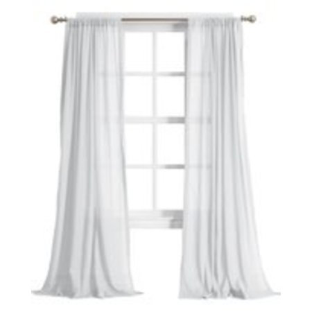 "No. 918 Cory Open Weave Cotton Sheer Curtain Panel, 50"" x 84"", White"