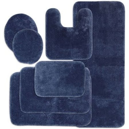 JcPenny Home Bath rug collection Blue - Standard toilet cover