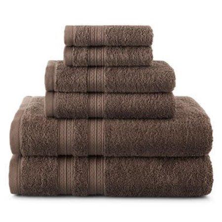 6 piece towel set - Alamo Brown